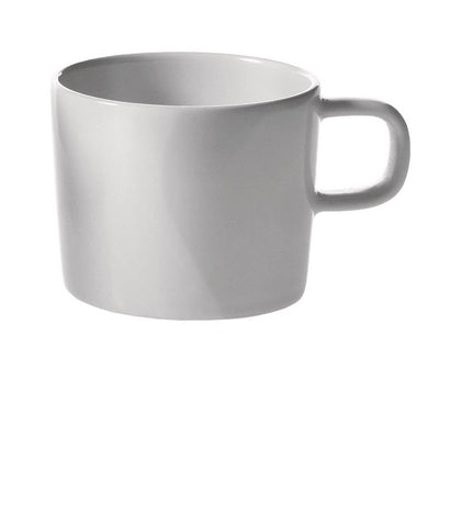 Alessi Mocha cup in white porcelain. Designed by Jasper Morrison.