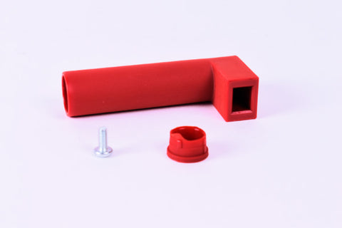 Handle and Screw (Replacement part for the Alessi Pulcina 3-cup stove-top espresso coffee maker model MDL02/3 in Red)