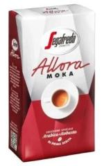 segafredo allora moka product pic, package that's red and white with a cup and saucer