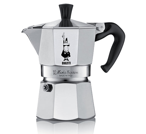 Bialetti Moka Express stove-top espresso coffee maker.