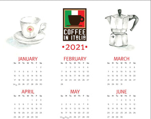 Coffee in Italia 2021 Calendar - digital print