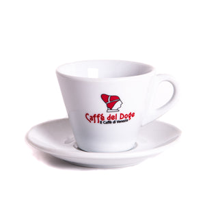 caffe del doge cappuccino white cup and saucer
