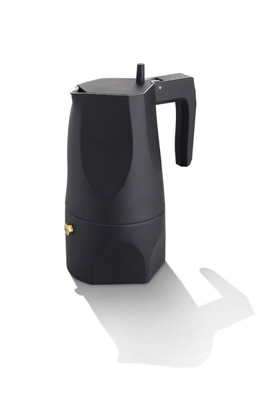 Alessi Ossidiana Black - Stove-top Espresso Coffee Maker