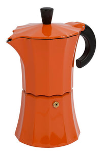 Gnali & Zani designed Morosina Arancia (Orange) stove-top aluminium espresso coffee maker