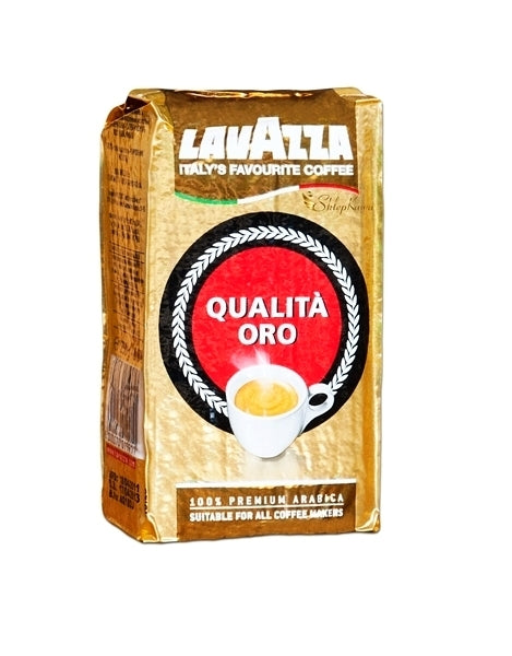 Lavazza Qualità Oro Ground Espresso Coffee in 250g bricks (Single or Multi) from Italy