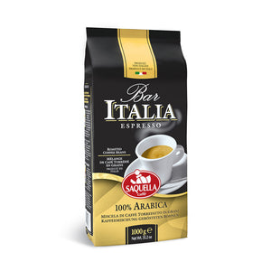 Saquella Bar Italia Espresso bag of coffee beans