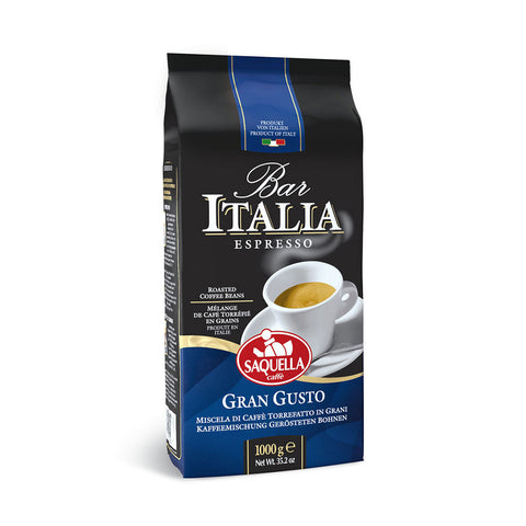 Saquella Bar Italia Gran Gusto bag of coffee beans
