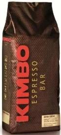 Kimbo espresso bar extra cream beans in 1K brown bag with red and gold writing