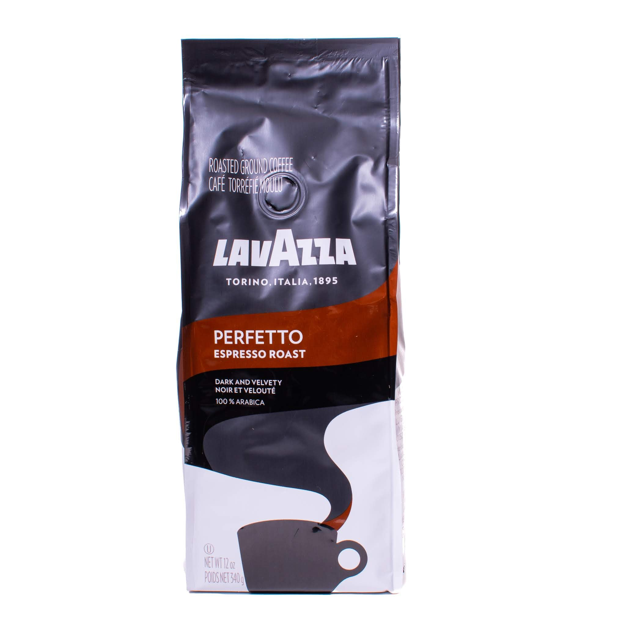 Front view of Lavazza Perfetto coffee soft pack