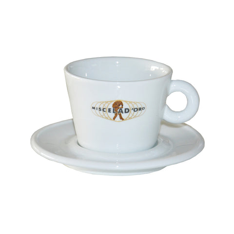 Miscela D'oro Cappuccino Cup with Saucer