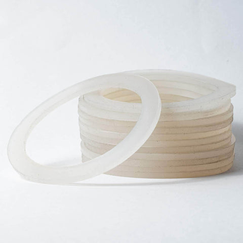 Gnali and Zani Morosina rubber gasket or washer, stack of clear rings