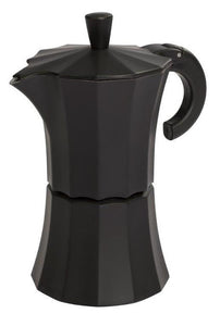 Gnali & Zani designed Morosina Express moka style stove-top aluminium espresso coffee maker in black.