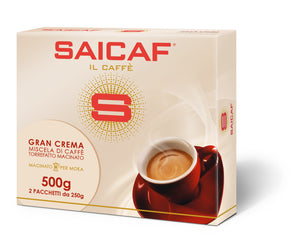 saicaf gran crema coffee double pack ground