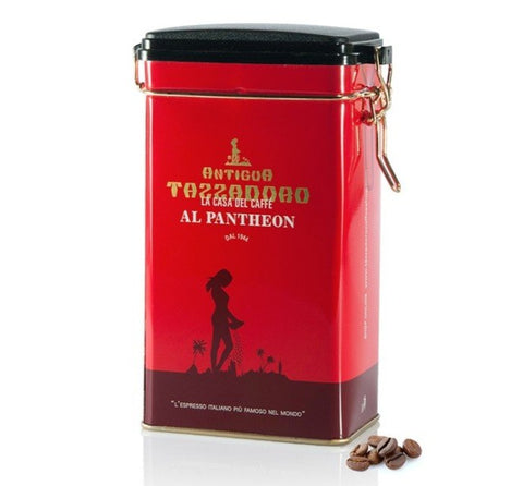 tazza d'oro coffee beans in red tin 250gram size