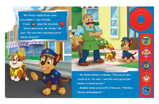 Paw Patrol: Ding Dong, It's the PAW Patrol! Little Door Bell Sound Book. Inside