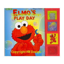 Load image into Gallery viewer, Sesame Street : Elmo's Play Day. Play-a-Sound Storybook