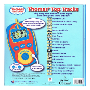 Thomas and Friends : Thomas' Top Tracks. Digital Music Player. Back Side