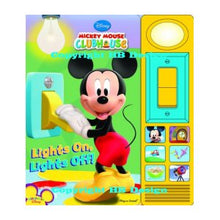Load image into Gallery viewer, Mickey Mouse Clubhouse: Lights On, Lights Off! Play-a-Sound Storybook