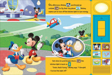 Load image into Gallery viewer, Mickey Mouse Clubhouse: Lights On, Lights Off! Play-a-Sound Storybook Inside