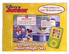 Load image into Gallery viewer, Disney Jr. : Let's Sing! Songbook and Music Player Mini Gift Set Inside