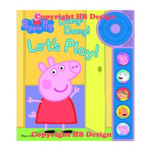 Load image into Gallery viewer, Peppa Pig: Ding! Dong! Let's Play! Little Door Bell Sound Book