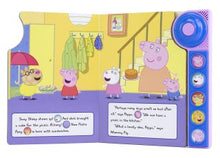 Load image into Gallery viewer, Peppa Pig: Ding! Dong! Let's Play! Little Door Bell Sound Book. Inside
