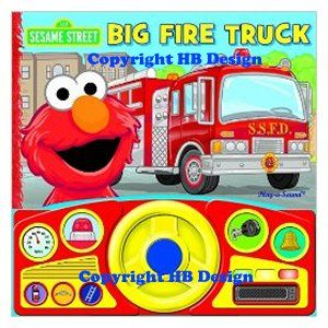 Sesame Street: Big Fire Truck Steering Wheel Play-a-Sound Storybook