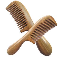 Wooden Handle Sandal Hair Combs