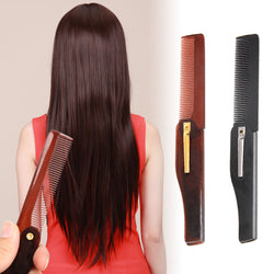 Foldable Hair Comb Pocket Clip