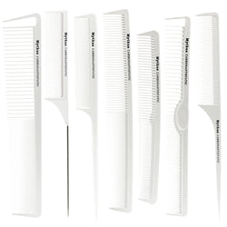 Hairdresser Carbon Comb In White
