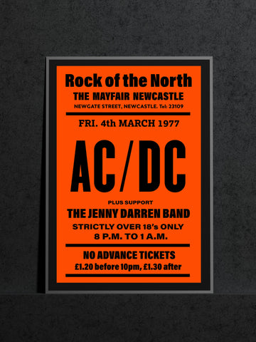AC/DC Newcastle Mayfair Jenny Darren Band