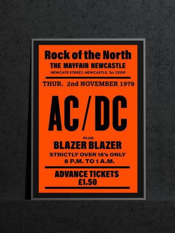 AC/DC - Newcastle Mayfair - 1978