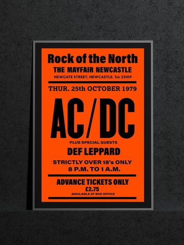 AC/DC Newcastle Mayfair Def Leppard