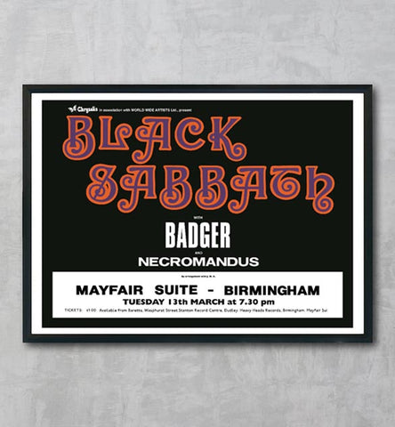 Black Sabbath Badger Mayfair Suite Birmingham