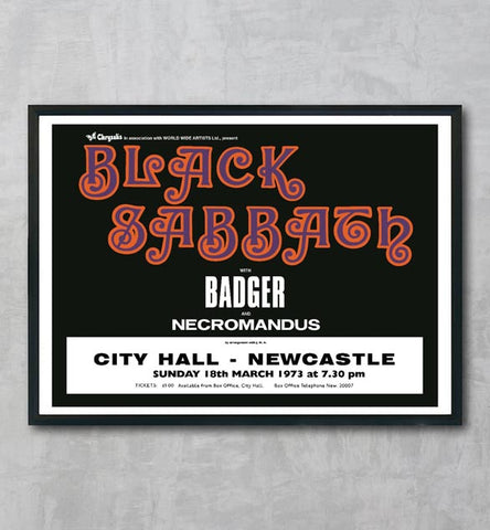 Black Sabbath - Newcastle City Hall - 1973