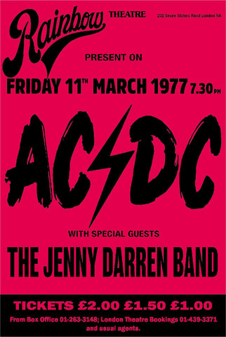 Rainbow Theatre London ACDC AC/DC 1977