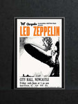 Led Zeppelin Music Poster | Newcastle City Hall