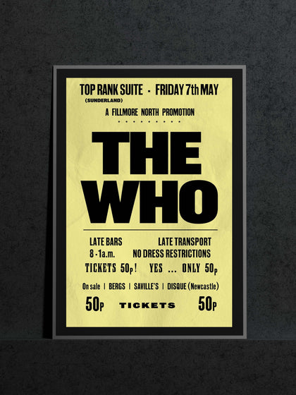 The Who | Sunderland Locarno Music Poster