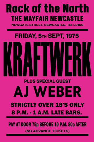 Kraftwerk Newcastle Mayfair AJ Weber