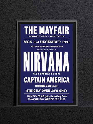 Nirvana - Newcastle Mayfair - 1991