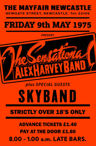 The Sensational Alex Harvey Band - Newcastle Mayfair - 1975