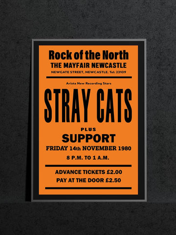 Stray Cats - Newcastle Mayfair - 1980