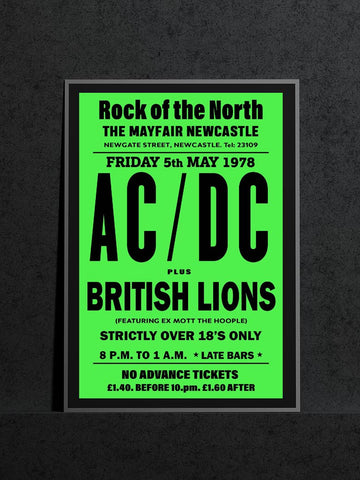 AC/DC Newcastle Mayfair British Lions