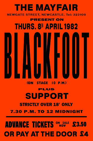 Blackfoot The Mayfair Newcastle