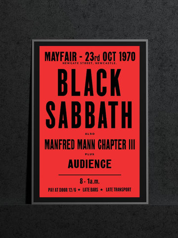 Black Sabbath City Hall Newcastle Manfred Mann