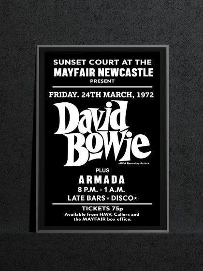 David Bowie Armada Music Poster | Mayfair Newcastle