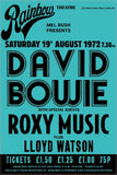Rainbow Theatre London Bowie Roxy Music