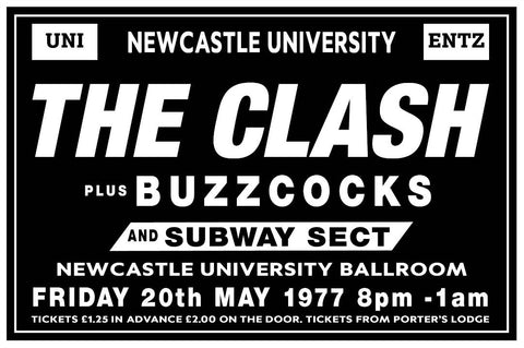 The Clash - Newcastle Uni - 1977