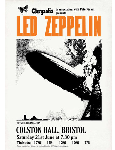 Led Zeppelin - Colston Hall, Bristol - 1969