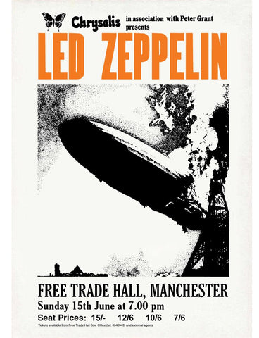 Led Zeppelin - Free Trade Hall, Manchester - 1969